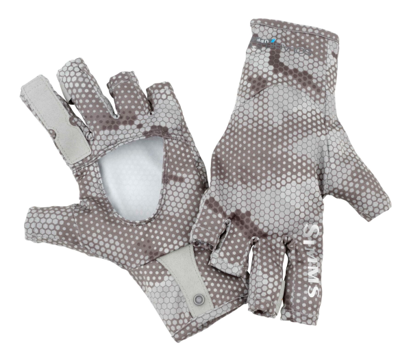 Simms Sungloves Hex Camo Boulder