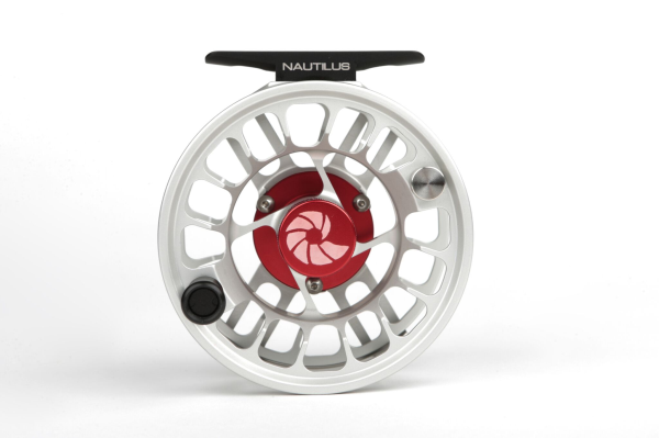 Silver Nautilus XL Max Fly Reel Side View