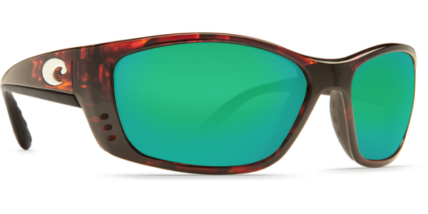 Costa Del Mar Fisch Polarized Sunglasses Tortoise Green Mirror Poly