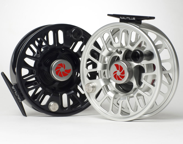 Nautilus NV-G silver and black fly fishing reels