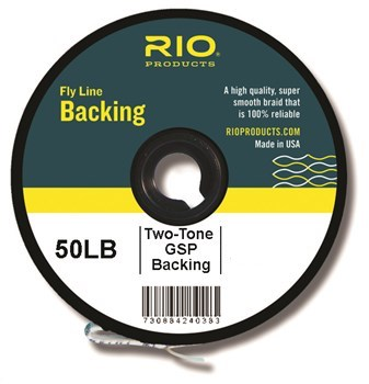 RIO 2-Tone Gel Spun Backing 50lb - 300 Yard Spool