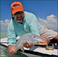 Pat Ehlers fly fishing for Bonefish on Boca Paila