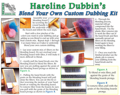 Instructions to use the Hareline Custom Dubbing Kit